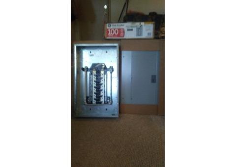 Brand new GE 100 amp breaker box $30